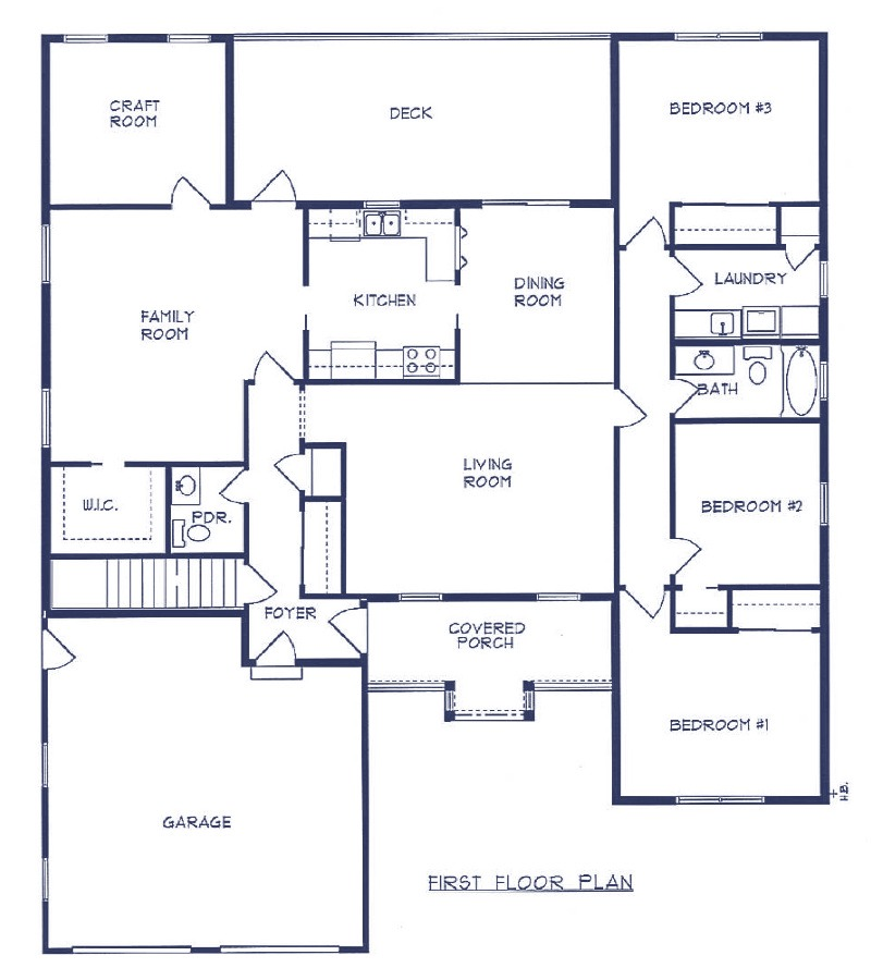 Sample home plans maranatha custom homes for Sample house plan